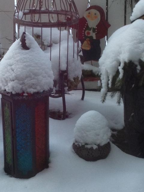 Snö på pyntet