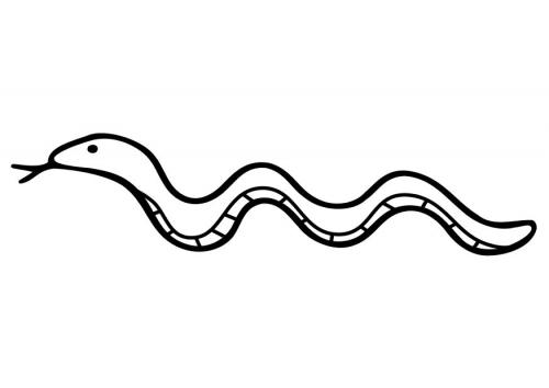 tecknad orm